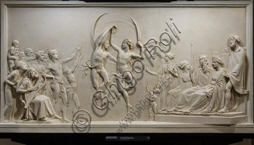 """""""Danza dei figli di Alcinoo"""", 1790-2, di Antonio Canova (1757 - 1822), gesso."""