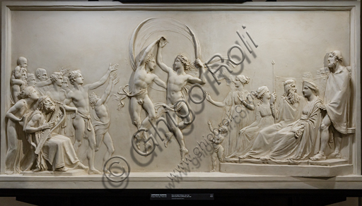"""Dance of Alcinous' Children "", 1790-2,  by Antonio Canova (1757 - 1822), plaster."