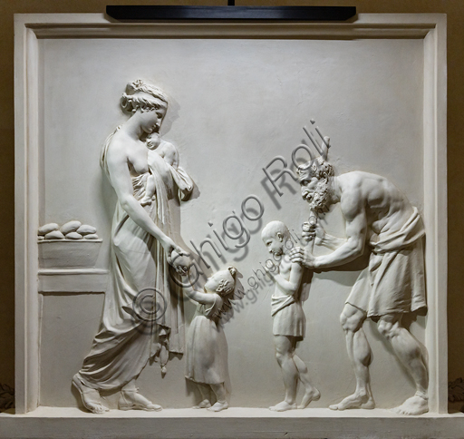 """Feeding the Hungry"", 1795,  by Antonio Canova (1757 - 1822), plaster."