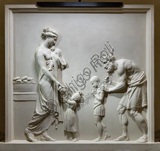 """""""Dare da mangiare agli affamati"""", 1795, di Antonio Canova (1757 - 1822), gesso."""