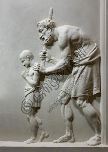"""""""Dare da mangiare agli affamati"""", 1795, di Antonio Canova (1757 - 1822), gesso. Particolare."""