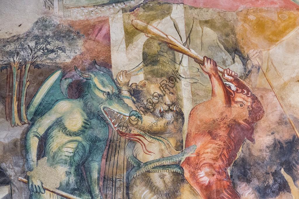 Pescia, Oratorio di San Antonio Abate: affresco attribuito a Bicci di Lorenzo. Particolare del Giudizio Universale.  ( prima metà del Quattrocento).