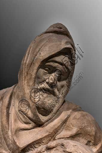 Firenze, Museo dell'Opera del Duomo (di Santa Maria del Fiore): Pietà Bandini, di Michelangelo Buonarroti, 1547 - 1555. Si tratta di una delle ultime sculture prodotte dall'artista. Particolare del volto di Nicodemo che si ritiene essere un autoritratto di Michelangelo.