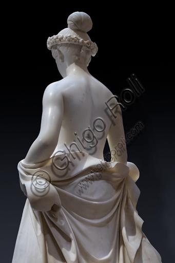 """""""Flora"""", 1838-40, di Pietro Tenerani (1789 - 1869), marmo. Particolare della parte posteriore."""