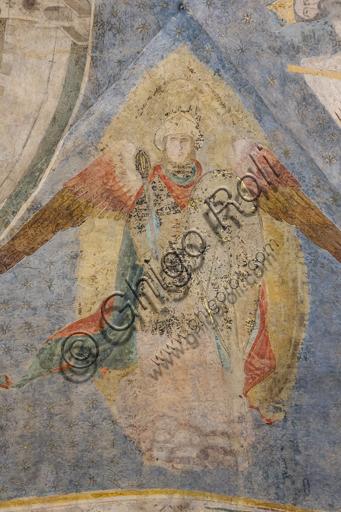 """""""Allegoria della Fortezza"""". Particolare della volta nel Palazzo dell'Arte dei Giudici e Notai, o del Proconsolo a Firenze. Affreschi di Jacopo di Cione (fratello dell'Orcagna, 1366-1406)."""
