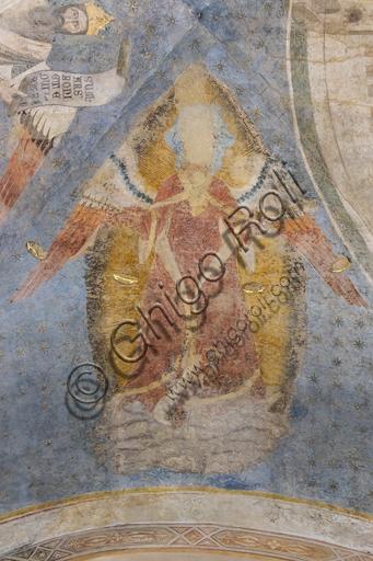 """""""Allegoria della Giustizia"""". Particolare della volta nel Palazzo dell'Arte dei Giudici e Notai, o del Proconsolo a Firenze. Affreschi di Jacopo di Cione (fratello dell'Orcagna, 1366-1406)."""