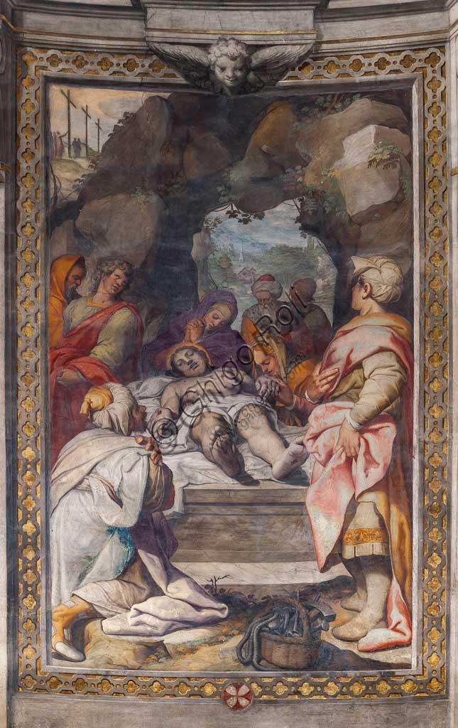 """Basilica di San Prospero, abside: """"Deposizione"""", affresco di Camillo Procaccini (1585 - 1587)."""