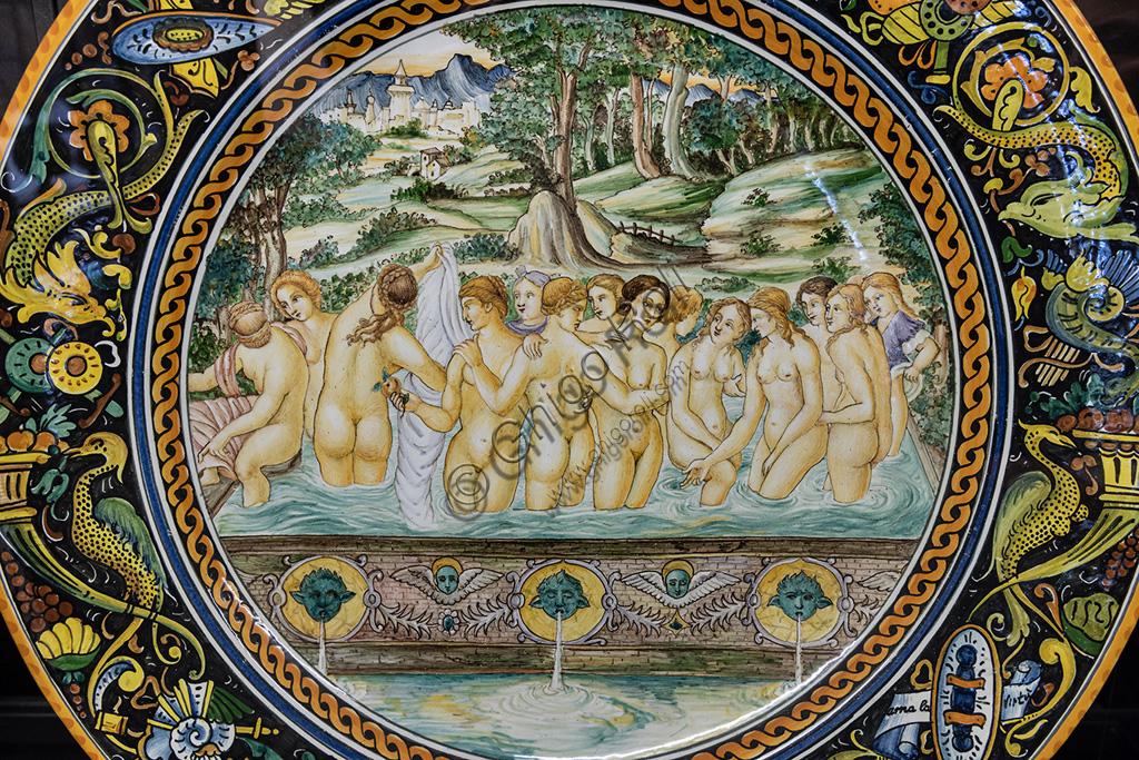 Deruta, Regional Ceramics Museum of Deruta: Plate representing The Fountain of Youth (Renaissance theme).