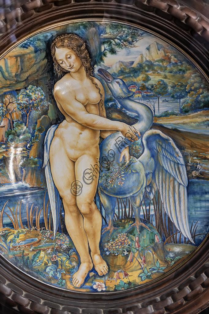 Deruta, Regional Ceramics Museum of Deruta: Plate representing Leda and the Swan .
