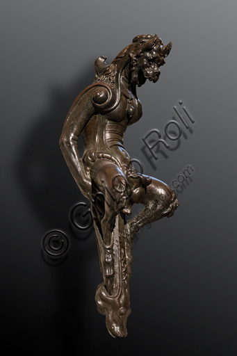 """""""Little Devil (Diavolino), bronze suclpture by Giambologna, half XVI century, part of a couple of standard bearers built for the Vecchietti Palace. The statue represents a satyr."""