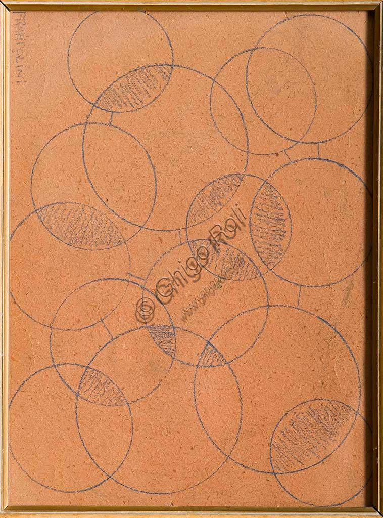 "Assicoop - Unipol Collection: Enrico Prampolini (1894 - 1956), ""Geometric Drawings""; pencil drawing."