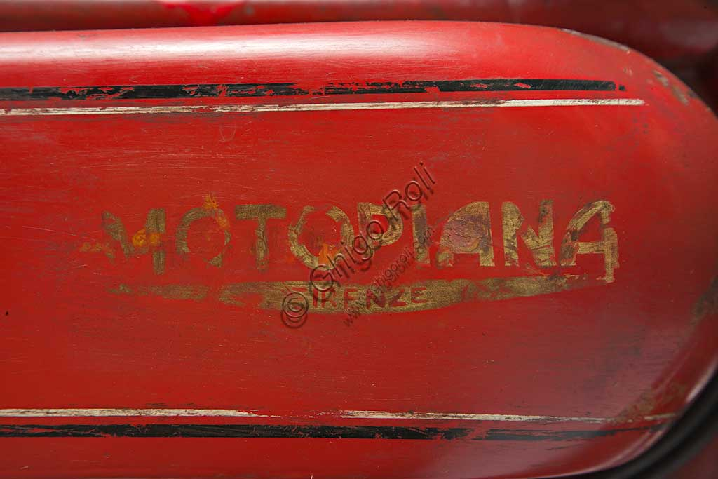 Ancient Motorbike Motopiana Tipo Corsa 250. Trademark.