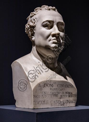 """Domenico Cimarosa"", 1822 by Antonio Canova (1757 - 1822), marble."