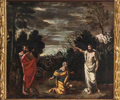 """Modena, Museo Civico d'Arte: """" Domine, quo vadis?"""", di Ludovico Lana (Ferrara ?1597-Modena 1646)."""