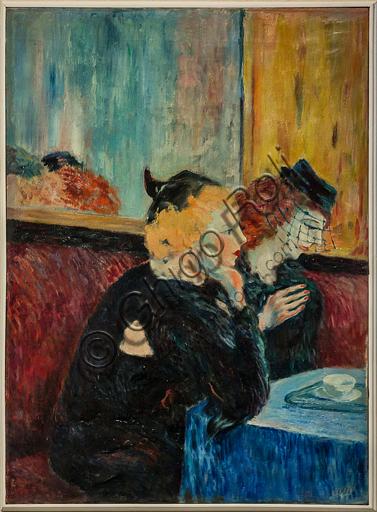 """Museo Novecento: """"Donne al caffè"""", di Aligi Sassu, 1942. Olio su tela."""