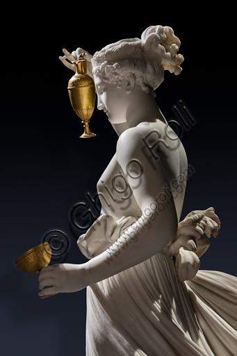 """""""Ebe"""", 1800-5, di Antonio Canova (1757 - 1822), marmo. Particolare."""