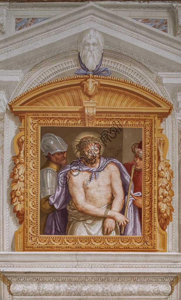 """Fanzolo, Villa Emo, the Io room: """"Ecce Homo"""". Fresco by Giovanni Battista Zelotti, about 1565."""