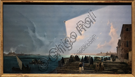 "Ippolito Caffi: ""Sun Eclipse at the fondamenta Nuove"", oil painting, 1842."