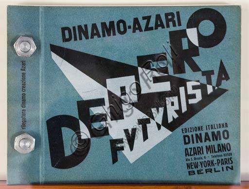 """Rovereto, Casa Depero: room """"Eco della Stampa"""": cover illustrated by Fortunato Depero."""