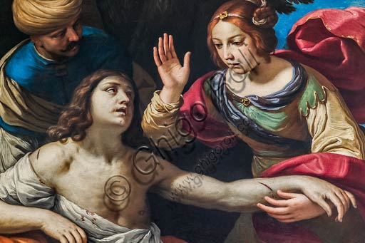 "Modena, Civic Museum of Art: ""Erminia finds Tacredi blessed"", by Ludovico Lana (Ferrara? 1597 - Modena 1646). Detail."