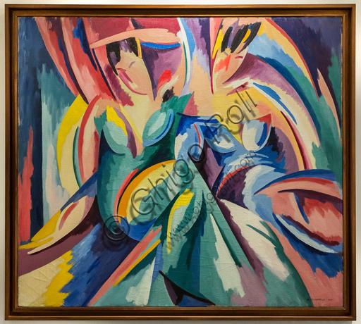 """Museo Novecento: """"Explosion lyrique n. 7"""", di Alberto Magnelli, 1918. Olio su tela."""