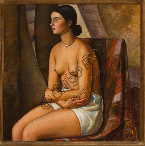 "Mario Vellani Marchi (1895 - 1979): ""Creole Maiden""; Oil painting on board, cm. 75 x 76."