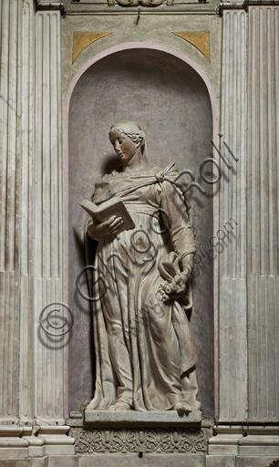 """Genova, Duomo (Cattedrale di S. Lorenzo), interno, Cappella Lercari o del Santissimo Sacramento (abside settentrionale): """"Fede"""", di Giovanni Battista Perolli,  1567-9."""