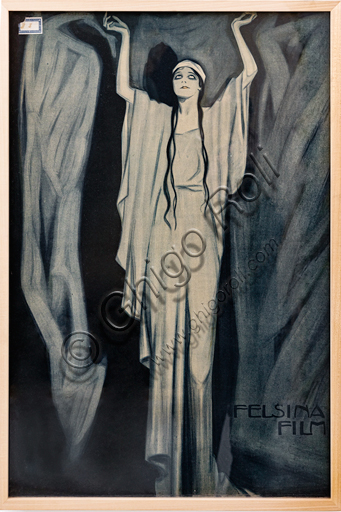 """""""Felsina Film"""", Illustration by Marcello Dudovich, 1915-20, lithography on paper."""