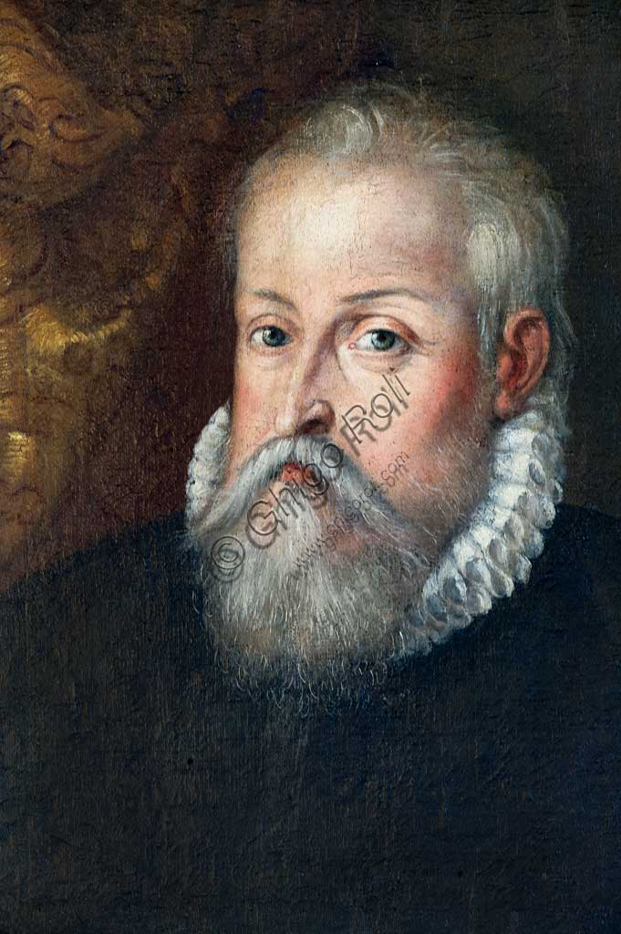 Ferrara, Castello Estense (the Estense Castle), also known as Castle of St. Michael: Portrait of Alfonso d'Este, by Ferrara painter, second half of XVI century.