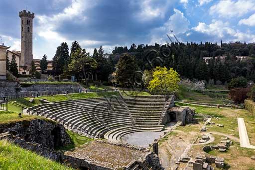 Fiesole, l'area archeologica: il teatro romano.