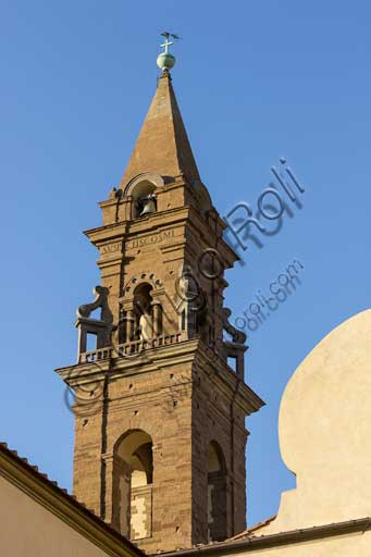 Firenze, Basilica di Santo Spirito: particolare del campanile.