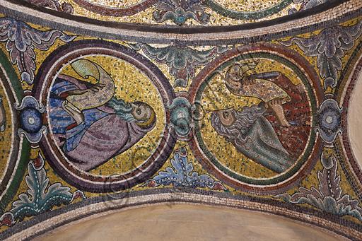Firenze, Battistero di San Giovanni, i matronei, Galleria Sud, tribuna centrale (dei busti maschili):  mosaici dell'ambiente del Maestro di San Gaggio (circa 1300-1310).