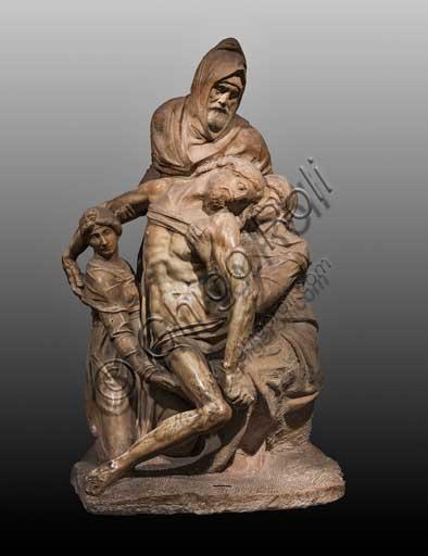 Firenze, Museo dell'Opera del Duomo (di Santa Maria del Fiore): Pietà Bandini, di Michelangelo Buonarroti, 1547 - 1555. Si tratta di una delle ultime sculture prodotte dall'artista e nella figura di Nicodemo si pensa che inserì un proprio autoritratto.