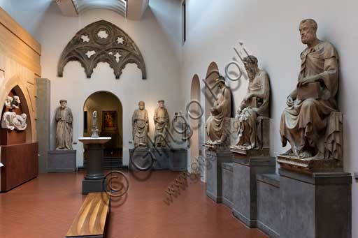 Florence, Museum of the Cathedral (Museo dell'Opera del Duomo - Santa Maria del Fiore): room of the old façade of the Cathedral.
