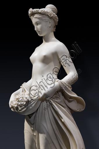 """""""Flora"""", 1838-40, di Pietro Tenerani (1789 - 1869), marmo. Particolare."""