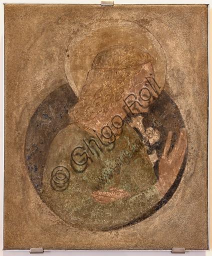 Foligno, Trinci Palace: Announcing Angel, detached fresco by Benozzo Gozzoli, second half of the XV century.