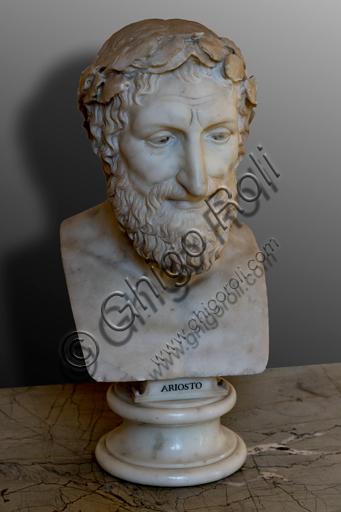 Foligno, Trinci Palace: marble bust representing Ludovico Ariosto.
