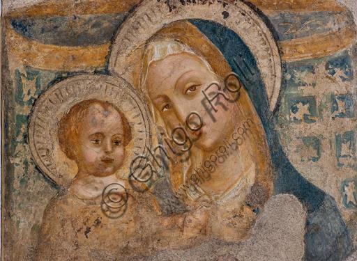 Foligno, Trinci Palace: Madonna and Infant Jesus, detached fresco, second half of the XV century.