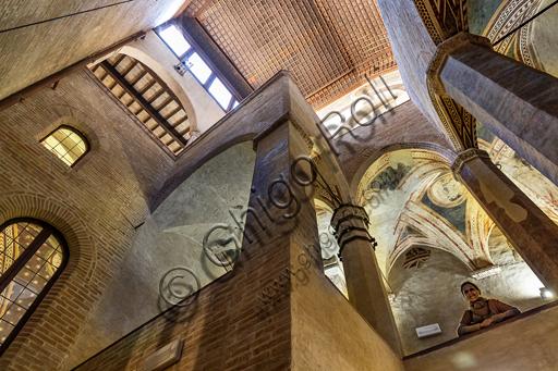 Foligno, Trinci Palace: Gothic stairway, XIII - XIV th century.