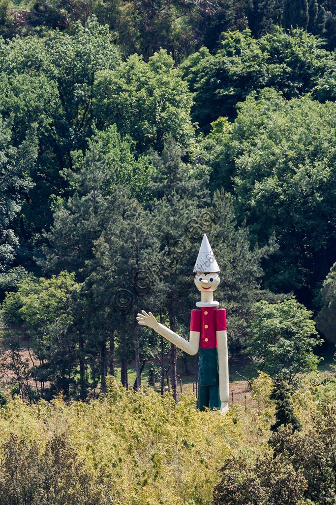 Fondazione Nazionale Carlo Collodi: il Pinocchio in legno più alto del mondo eretto il 28 marzo 2009 e dono dell'Atelier Volet (storica ditta di carpenteria del Canton svizzero del Vaud).