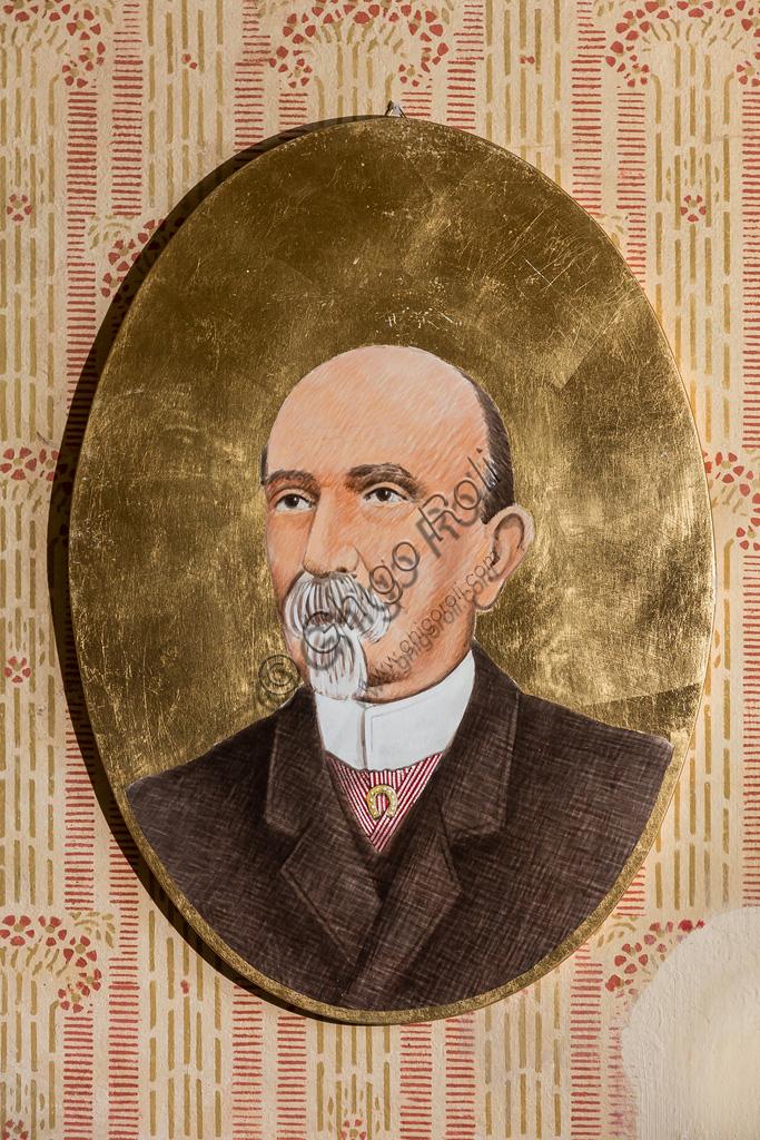 Fondazione Nazionale Carlo Collodi, la Biblioteca: ritratto di Carlo Collodi, pseudonimo di Carlo Lorenzini.
