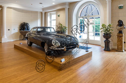 Fontanellato, Labirinto della Masone, Franco Maria Ricci Art Collection: the room with the Jaguar E-Type.
