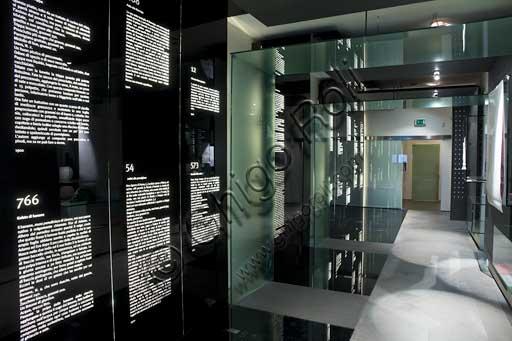 Forlimpopoli, Casa Artusi:Casa Artusi: il corridoio con le più celebri ricette di Pellegrino Artusi.