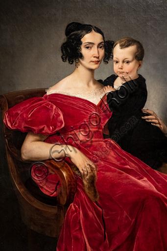 """Francesco Hayez: """"Ritratto della Contessa Teresa Zumali Marsili col figlio Giuseppe"""", olio su tela, 1833."""