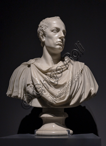 """Francesco I d'Austria"", 1822 di Antonio Canova (1757 - 1822), marmo."