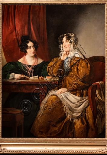 """Friedrich von Amerling:  """"Portrait of Baroness Henriette von Pereira - Armstein with her daughter Flora"""", oil painting, 1833."""