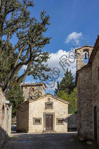 Gaiole in Chianti Castello di Ama (Ama Castle): partial view of the hamlet.