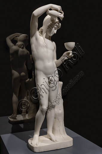 """Ganimede"", 1819-24, di Bertel Thorvaldsen (1770 - 1844), marmo."