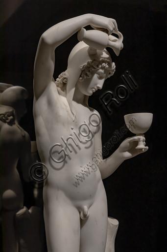 """""""Ganimede"""", 1819-24, di Bertel Thorvaldsen (1770 - 1844), marmo. Particolare."""