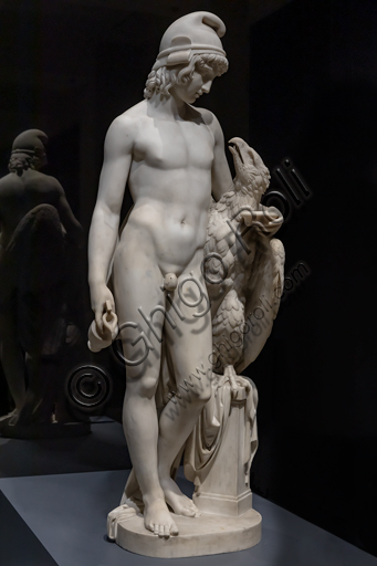 """Standing Ganymede with Jupiter's Eagle"", 1819 , di Camillo Pacetti (1758-1826), marble."